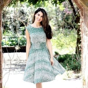 ANTHROPOLOGIE South Shore Jersey Dress Green {Y25}